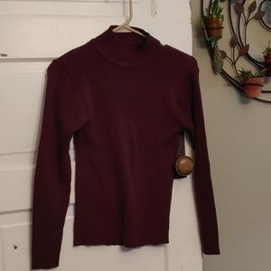 One Step Up Brown Ribbed Sweater Size Medium